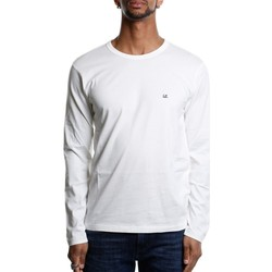 Abbigliamento Uomo T-shirts a maniche lunghe Cp Company 06CMTS055A-000444G - 101 White Bianco