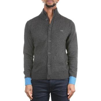 Abbigliamento Uomo Gilet / Cardigan Sun68 K29125-47 Grigio Scuro Grigio