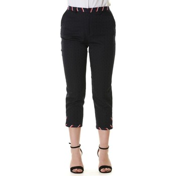 Abbigliamento Donna Pinocchietto Manila Grace P078VJ MD560-BLU NAVY Blu