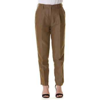 Abbigliamento Donna Pantaloni morbidi / Pantaloni alla zuava Manila Grace P441CU MD874-KAKI Bianco