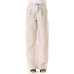 Abbigliamento Donna Pantaloni morbidi / Pantaloni alla zuava Emme Marella 51311104000 001-AVORIO Bianco