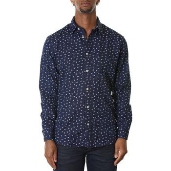 Abbigliamento Uomo Camicie maniche lunghe Selected 16071925-Dark Blue Blu