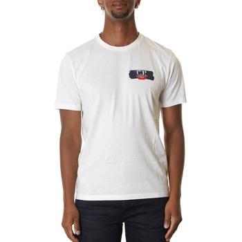 Abbigliamento Uomo T-shirt maniche corte Cp Company 08CMTS145A005100W-103 - GAUZE WHITE Bianco
