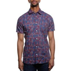 Abbigliamento Uomo Camicie maniche corte Premium 12152574 - Mood Indigo Blu