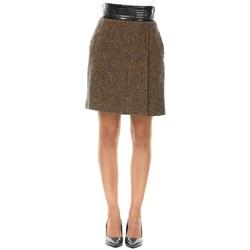Abbigliamento Donna Gonne Manila Grace N176WT-MD714 Pavone Chevron Marrone