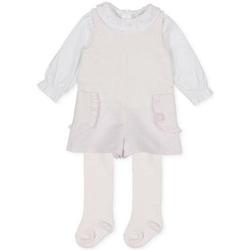 Abbigliamento Bambina Tuta jumpsuit / Salopette Tutto Piccolo PAGLIACCETTO NEONATA BIANCO Rosa