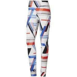 Abbigliamento Donna Leggings Reebok Sport One Series Lux Bold Bianco, Rosso, Azzuro