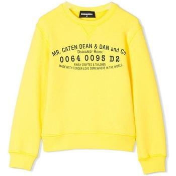 Abbigliamento Bambino Felpe Dsquared FELPA GIROCOLLO DQ02VU-D00G4 Giallo