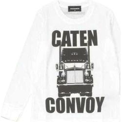 Abbigliamento Bambino T-shirts a maniche lunghe Dsquared ML NERO DQ02UU-D00MR Bianco