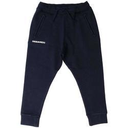 Abbigliamento Bambino Pantaloni da tuta Dsquared PANT.FELPA DQ02E1-D00P6 Blu