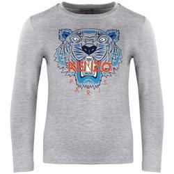 Abbigliamento Bambino T-shirts a maniche lunghe Kenzo ML Grigio
