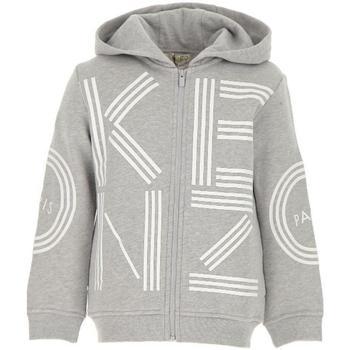 Abbigliamento Bambino Felpe Kenzo FELPA ZIP/CAPUCCIO Grigio