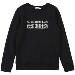 Abbigliamento Bambino Felpe Calvin Klein Jeans FELPA GIROCOLLO Nero