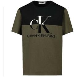 Abbigliamento Bambino T-shirt maniche corte Calvin Klein Jeans M/M VERDE Nero