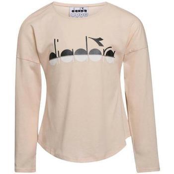 Abbigliamento Bambina T-shirts a maniche lunghe Diadora M/L PANNA Bianco