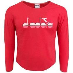 Abbigliamento Bambina T-shirts a maniche lunghe Diadora M/L CORALLO Fuxia