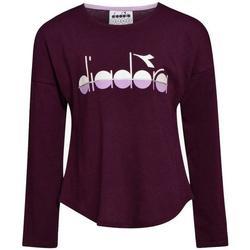 Abbigliamento Bambina T-shirts a maniche lunghe Diadora M/L Viola