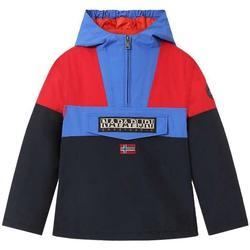 Abbigliamento Bambino Piumini Napapijri GIUBBOTTO/ROYAL/ROSSO Blu