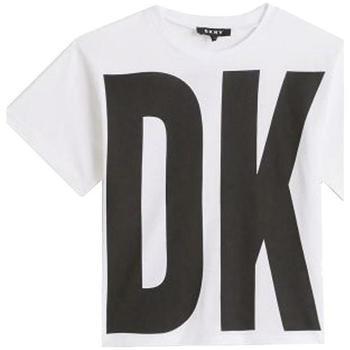 Abbigliamento Bambina T-shirt maniche corte Dkny D35Q84 Bianco