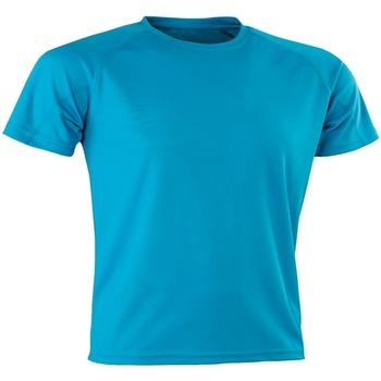 Abbigliamento Uomo T-shirt maniche corte Spiro SR287 Azzurro acqua