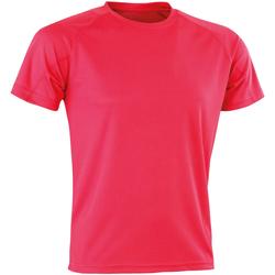 Abbigliamento Uomo T-shirt maniche corte Spiro SR287 Rosa intenso