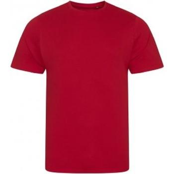 Abbigliamento Uomo T-shirt maniche corte Ecologie EA001 Rosso fuoco