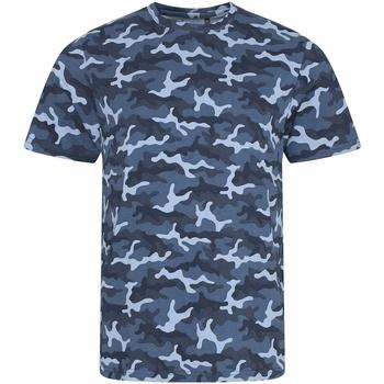 Abbigliamento Uomo T-shirt maniche corte Awdis JT034 Blu camouflage