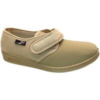 Scarpe Donna Pantofole Gaviga pantofola  cotone elasticizzato beige fisioterapia extra large marrone