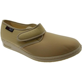 Pantofole Gaviga  pantofola strip cotone elasticizzato beige fisioterapia extra la