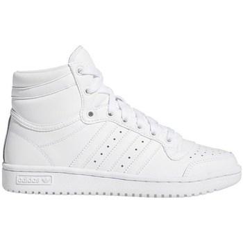 Scarpe Unisex bambino Sneakers alte adidas Originals Top Ten J Bianco