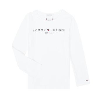 Abbigliamento Bambina T-shirts a maniche lunghe Tommy Hilfiger KG0KG05247-YBR-J Bianco