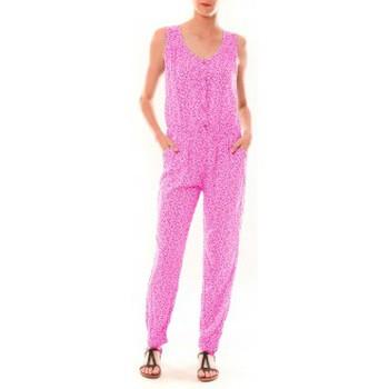Abbigliamento Donna Tuta jumpsuit / Salopette Dress Code Combinaison Z073  Rose Rosa