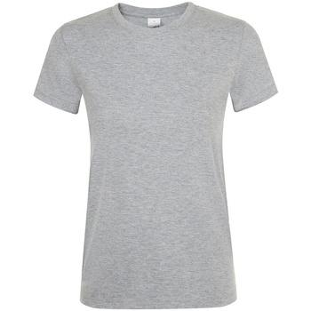 Abbigliamento Donna T-shirt maniche corte Sols 01825 Grigio screziato