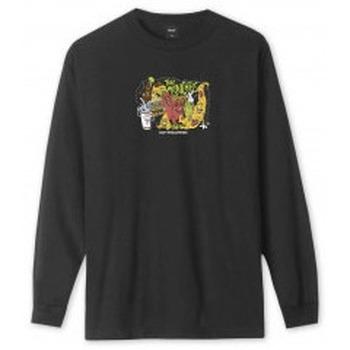 Abbigliamento T-shirts a maniche lunghe Huf The Munchies L/S T-Shirt - Black Nero
