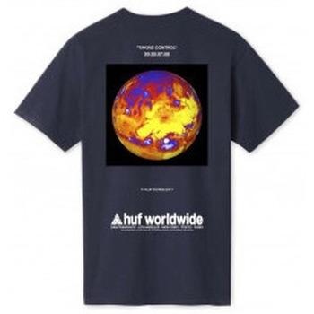 Abbigliamento T-shirt maniche corte Huf Taking Control T-Shirt - French Navy Blu