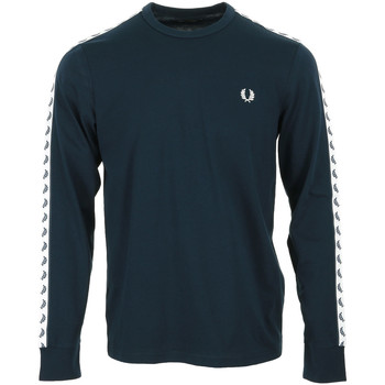 Abbigliamento Uomo T-shirts a maniche lunghe Fred Perry Taped Long Sleeve T-Shirt Blu