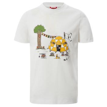 Abbigliamento Bambino T-shirt maniche corte The North Face GRAPHIC TEE Bianco