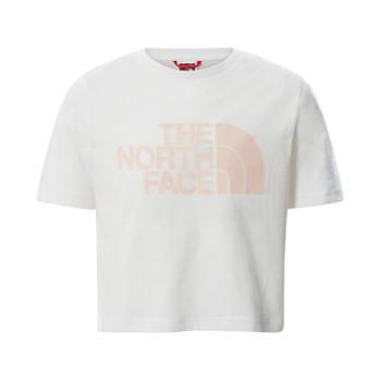 Abbigliamento Bambina T-shirt maniche corte The North Face EASY CROPPED TEE Bianco