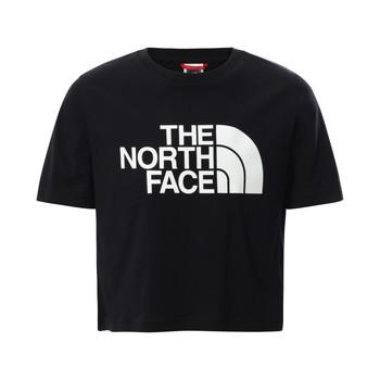 Abbigliamento Bambina T-shirt maniche corte The North Face EASY CROPPED TEE Nero