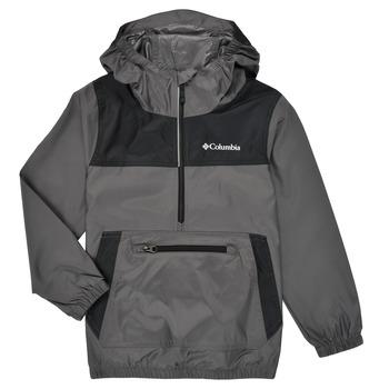 Abbigliamento Unisex bambino giacca a vento Columbia BLOOMINGPORT WINDBREAKER Bianco / Nero