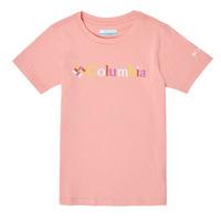 Abbigliamento Bambina T-shirt maniche corte Columbia SWEET PINES GRAPHIC Rosa