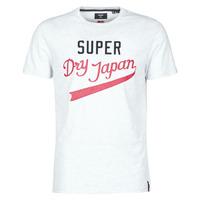 Abbigliamento Uomo T-shirt maniche corte Superdry COLLEGIATE GRAPHIC TEE 185 Grigio