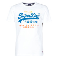 Abbigliamento Uomo T-shirt maniche corte Superdry VL TRI TEE 220 Bianco