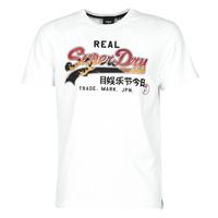 Abbigliamento Uomo T-shirt maniche corte Superdry VL ITAGO TEE 220 Bianco