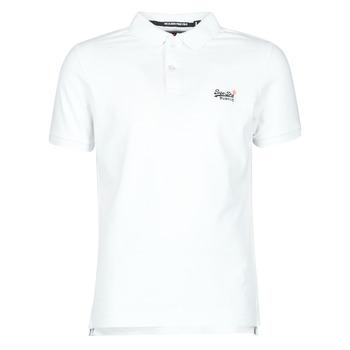 Abbigliamento Uomo T-shirt maniche corte Superdry CLASSIC PIQUE S/S POLO Bianco