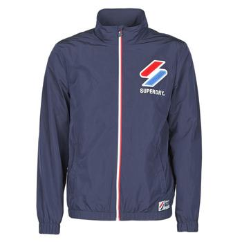 Abbigliamento Uomo giacca a vento Superdry TRACK CAGOULE Blu