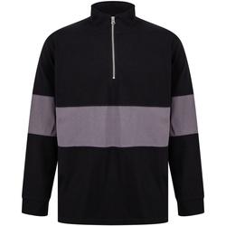Abbigliamento Maglioni Front Row FR06M Nero/Grigio