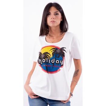 Abbigliamento Donna T-shirt maniche corte Persona By Marina Rinaldi VALUTA Bianco