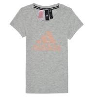 Abbigliamento Bambina T-shirt maniche corte adidas Performance JG A MHE TEE Bianco