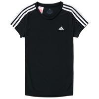 Abbigliamento Bambina T-shirt maniche corte adidas Performance G 3S T Nero